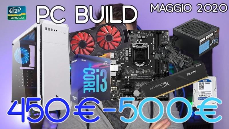PC BUILD 450€ – 500€ da Gaming | INTEL + Scheda video DEDICATA