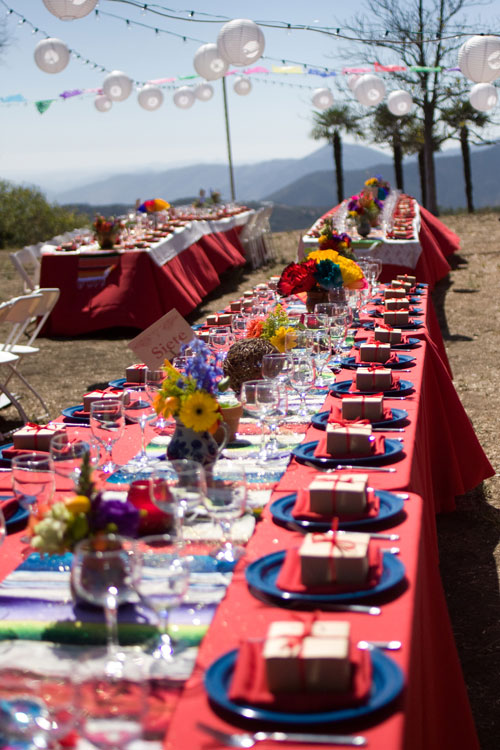 Red Blue Multicolored Mexican Fiesta Tables Elizabeth