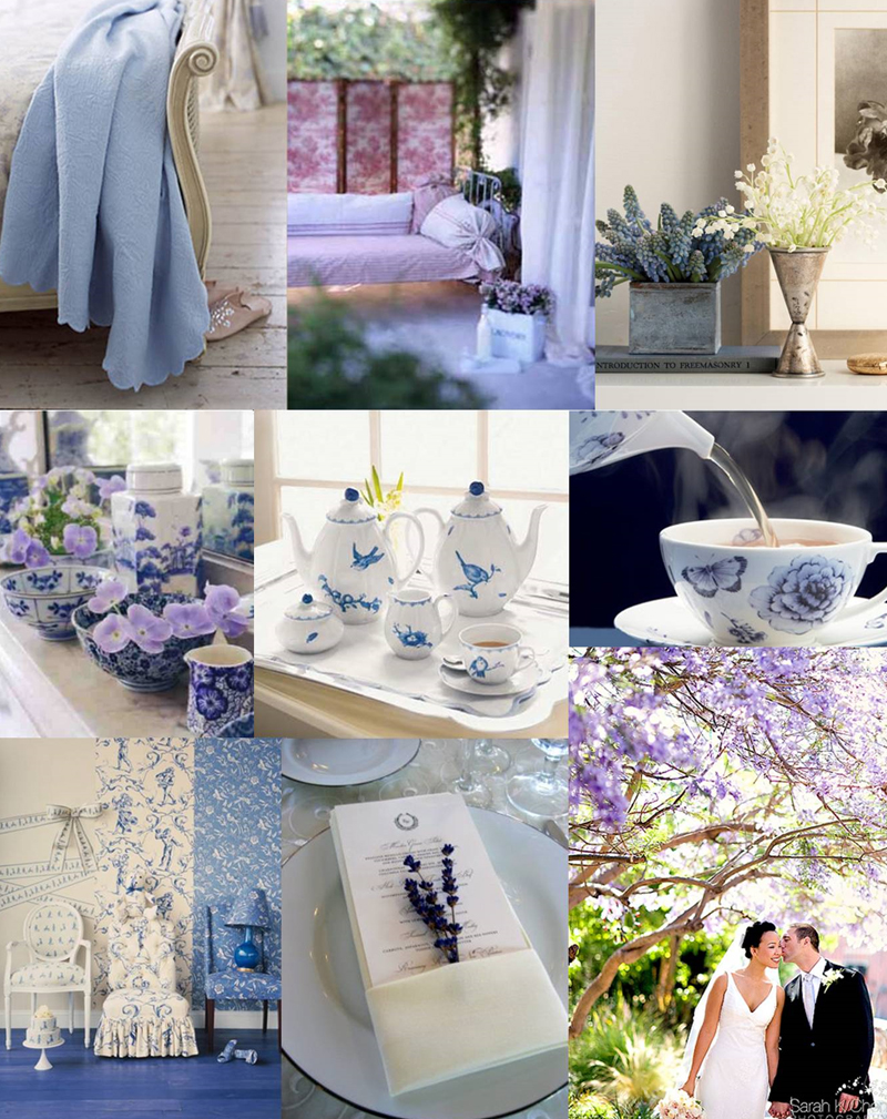 Robins Egg Blue And Lavender Wedding Table Ideas