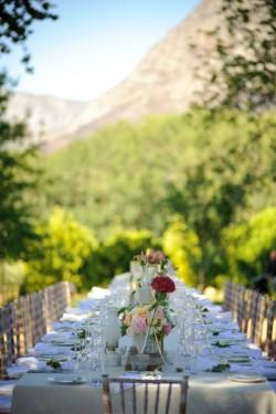 Pink Garden Wedding Table
