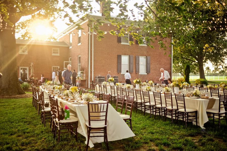 Outdoor Wedding Reception Elizabeth Anne Designs The