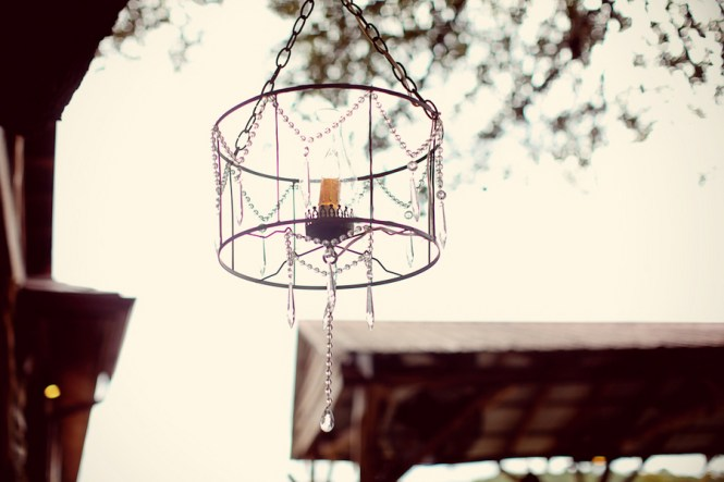 Rustic Outdoor Chandelier With Hurricane And Candle Elizabeth Anne Designs The Wedding Blog