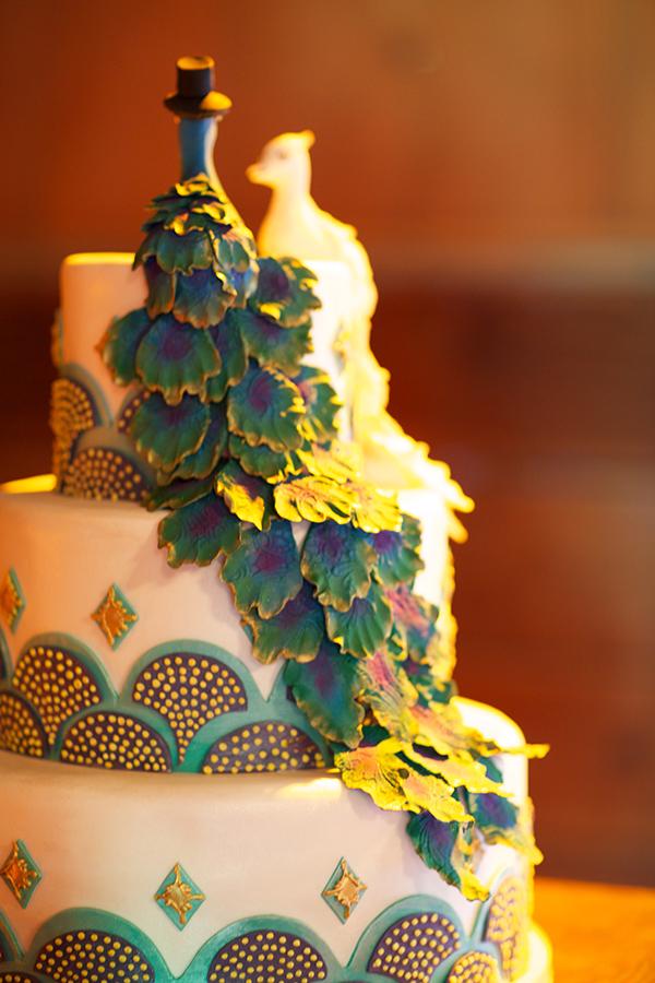 Peacock Themed Wedding Cake Elizabeth Anne Designs The