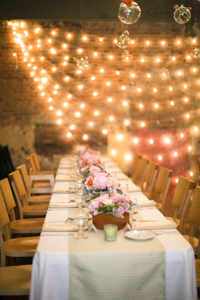 Modern Rustic Loft Wedding Reception Elizabeth Anne
