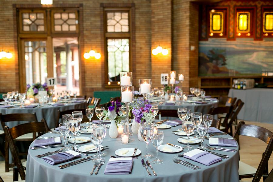 Purple And Silver Wedding Reception Elizabeth Anne