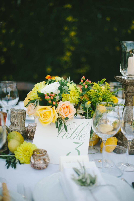 Peach And Yellow Floral Reception Decor Elizabeth Anne