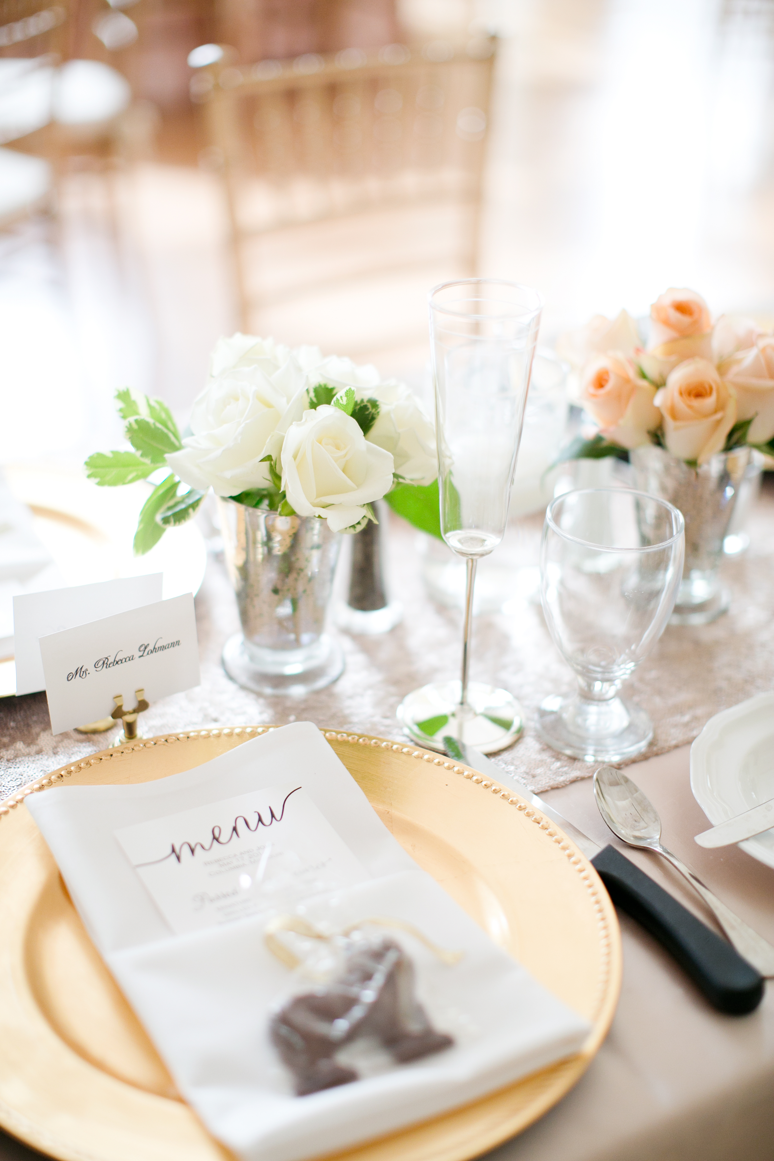 Blush Ivory And Gold Reception Table Elizabeth Anne