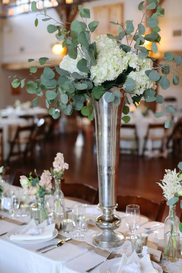 Wedding Centerpiece With Eucalyptus Elizabeth Anne
