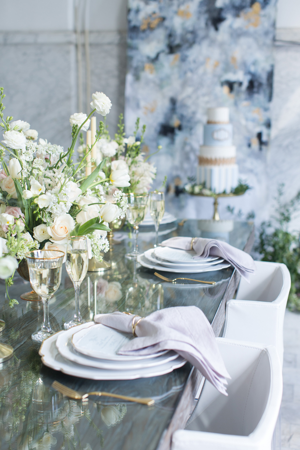 Slate Blue Lavender And Ivory Wedding Elizabeth Anne