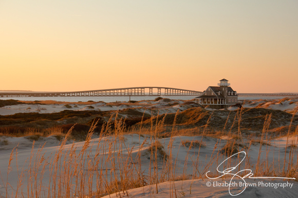 Historic US Coast Guard Oregon Inlet Lifesaving Station at the Pea Island National Wildlife Refuge, Hatteras, NC