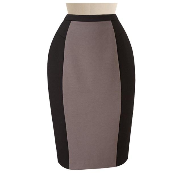 Beige And Black Skirt - Skirts