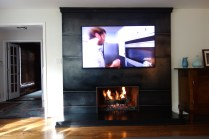 New mantel in custom patinated steel