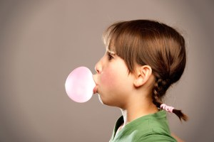 girl chewing gum
