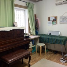 new piano in room