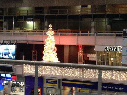 A Christmas Tree at The Hague Central Station