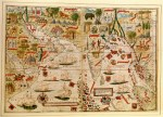 Map of India and Indian Ocean by Pedro and Jorge Reinel, Lopo Homen, cartographers and Antonio de Holanda, miniaturist from Miller Atlas, 1519. Paris, Bibliothèque Nationale de France. © De Agostini/The British Library Board