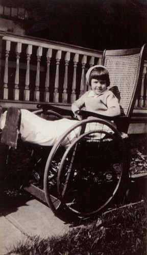 1930 Mom in wheelchair