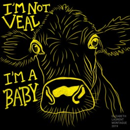 """Calf """"I'm not veal, I'm a baby"""""""