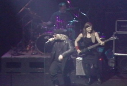 Jeffrey Lee Pierce, Brock Avery and Elizabeth Montague in 1995