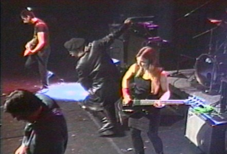 Jeffrey Lee Pierce, Kidd Congo, Mike Martt and Elizabeth Montague and Jeffrey Lee Pierce in 1995