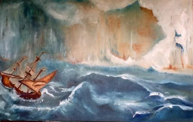 Ship at Sea painting