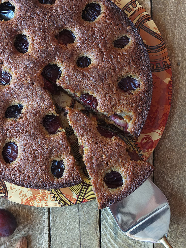 Hungarian Plum Cake Recipe with Almonds