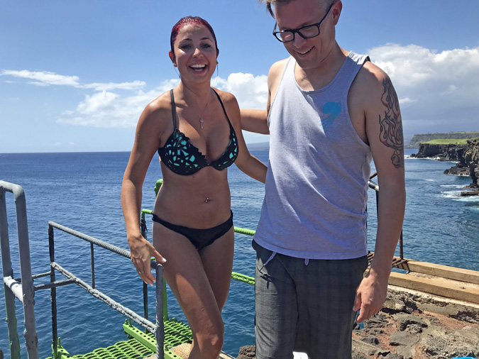 Photos and Video of 12 Meter Cliff Jumping at South Point Hawaii