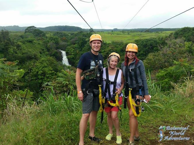 Ziplining on Big Island