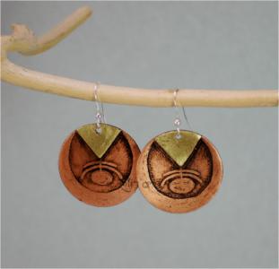 Boucles d'oreilles Foljoa par Eliz'art