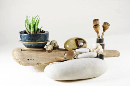 Composition végétale et minérale par Eliz'Art