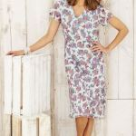 Adini Rosemary Print Flavia Summer Dress Frost