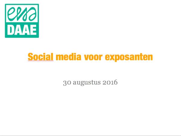 social media voor exposanten