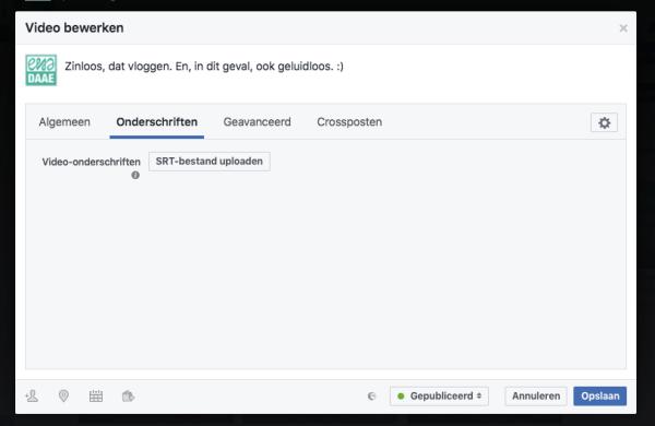 ondertiteling youtube voor facebook