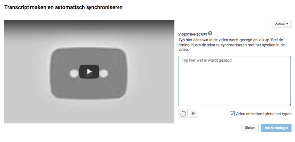 youtube video ondertitelen