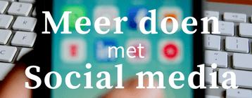 workshop meer doen met social media