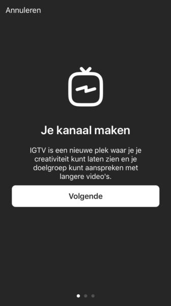 IGTV kanaal maken 2