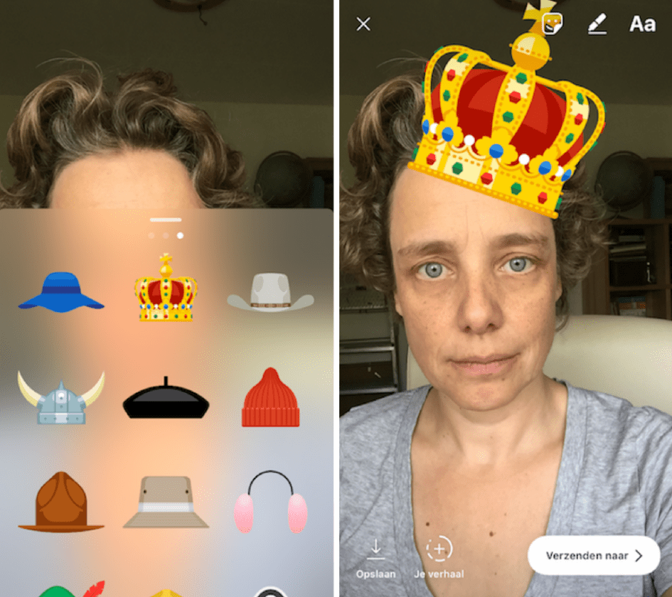 Instagram stories stickers selfie cam