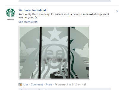 starbucks op facebook online community