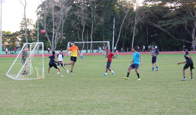 Campo de Fútbol del Complejo Deportivo Juan Pablo Duarte, de San Francisco de Macorís..