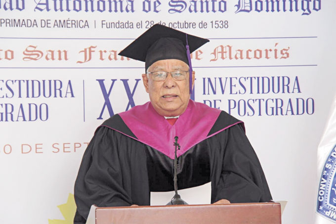 ❏ Mtro. Miguel Medina Liriano, en su discurso central.