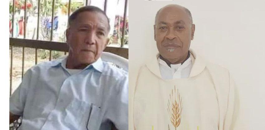 Padre Dionisio Suárez Arias (derecha) y padre Manuel Vicente De Castro Hernández (Padre Niño).