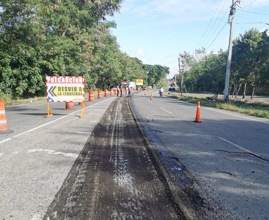 Ministerio de Obras Públicas inicia trabajos de reparación carretera Controba - San Francisco
