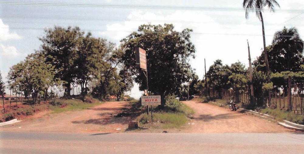 Esta imagen del año 2007 muestra la amplitud de la calle de entrada que da acceso a la Urbanización Las Colinas.