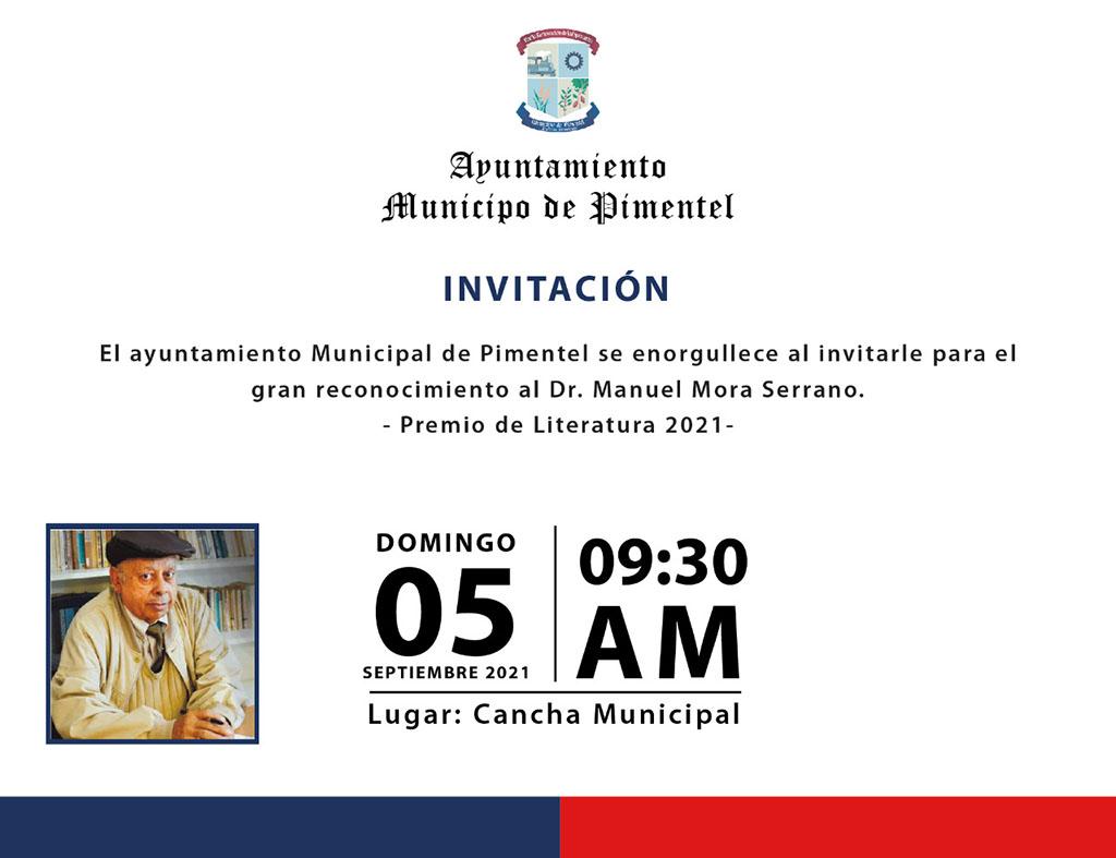 Ayuntamiento Pimentel rinde homenaje a Manuel Mora Serrano en sus 88 años