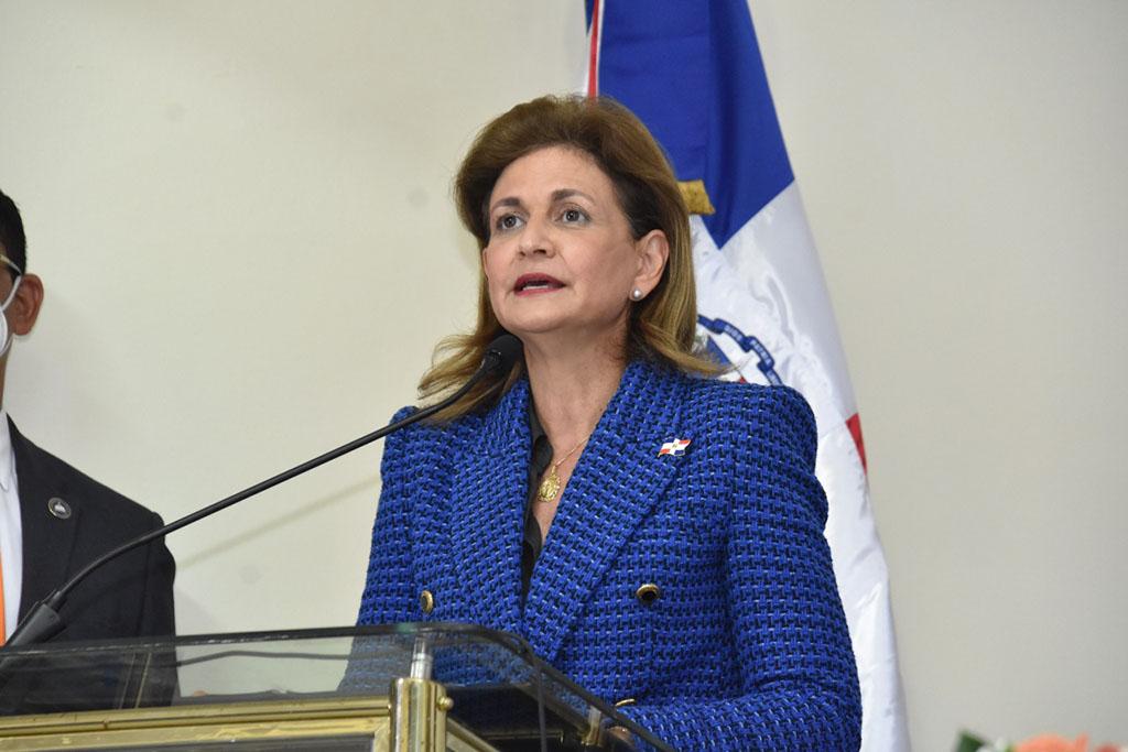 La vicepresidenta de la República, Raquel Peña