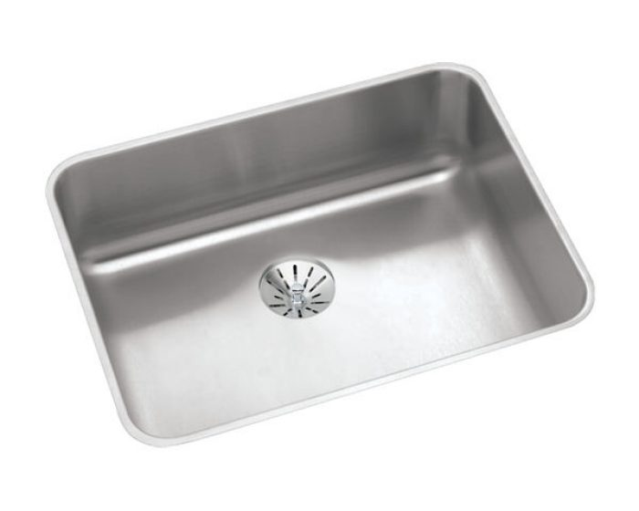 elkay lustertone classic stainless steel 23 1 2 x 18 1 4 x 7 1 2 single bowl undermount sink with perfect drain