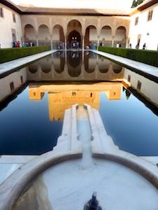Spiegelung Patio des los Arrayanes Alhambra 2015-11-07 Foto Elke Backert