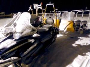 Skiscooter mit Haenger