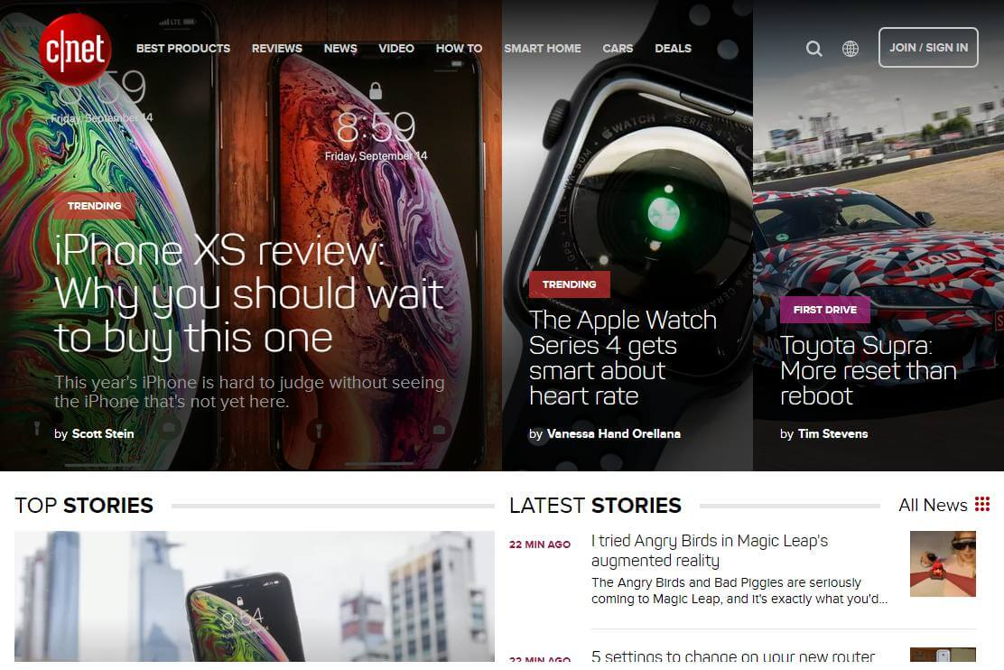 CNET reviews and latest tech news