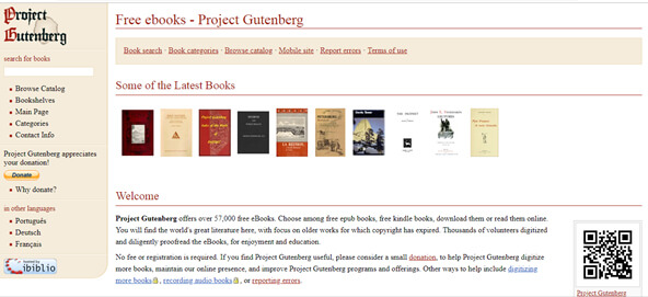 project gutenberg ebooks download